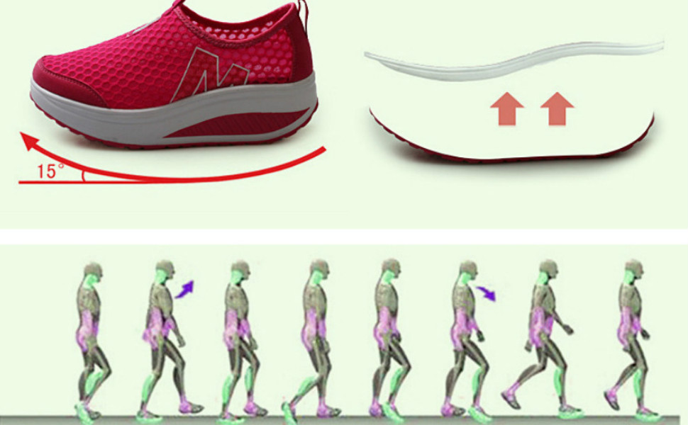 Ladies Toning Rocker Shoes