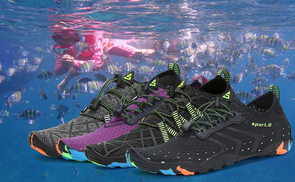 8c18556fa7315 SAGUARO Mens Womens Skin Barefoot Water Shoes Quick-Dry Aqua Sports ...