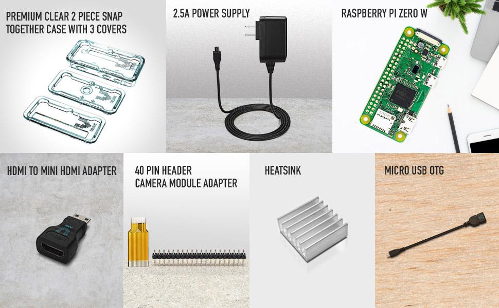 Vilros Raspberry Pi Zero W Basic Starter Kit