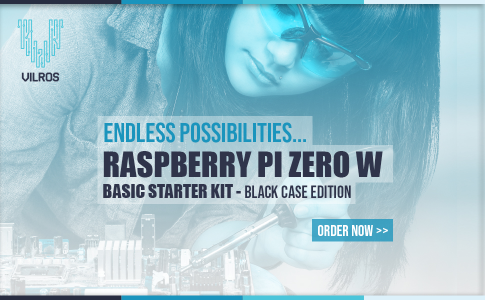 Black Case Edition-Includes Pi Zer Vilros Raspberry Pi Zero W Basic Starter Kit
