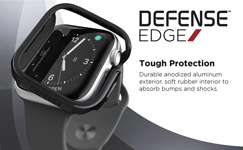 apple watch 44mm protects defends shocks scratches scrapes edges frame bumper metal aluminum thin