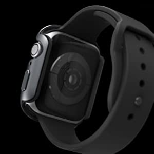 thin aluminum metal frame soft rubber lining bumper protects edges apple watch stylish look sleek