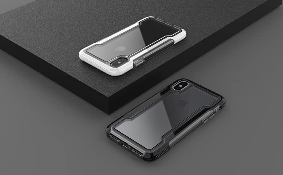 defense clear iPhone Xs Max phone case frame drop tested bumper screen protection scratch resistant