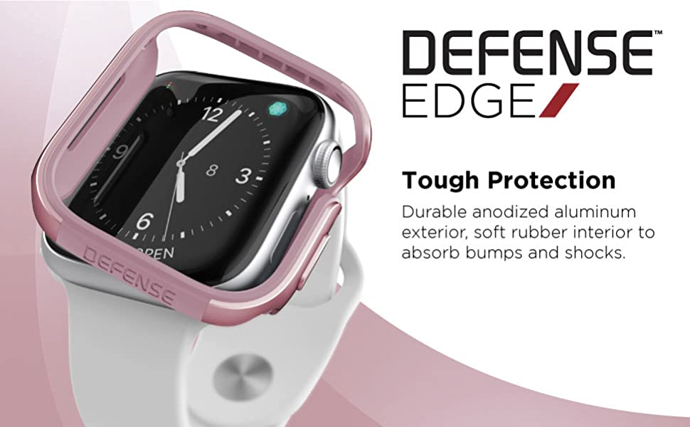 apple watch 40mm bumper protection frame simple cute stylish girly strong aluminum metal prevents
