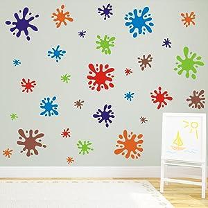 Toarti Adhesivo Decorativo Para Pared 112 Unidades Multicolor Arte Manualidades Y Costura