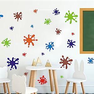 c/írculos grandes y de colores pastel Rosa XL adhesivos de puntos,73080 adhesivos de pared Timalo/® 60 adhesivos de pared para habitaci/ón infantil