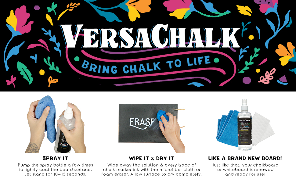 Amazon.com: VersaChalk spray limpiador de pizarra y kit ...