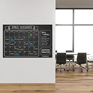 Amazon.com: VersaChalk Calcomanía de pared con calendario de ...