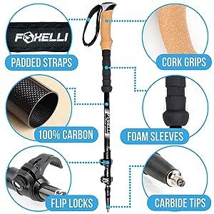 foxelli trekking poles specs