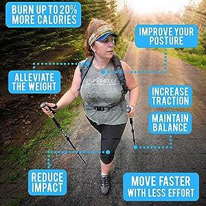 foxelli trekking poles benefits