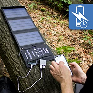 10w solar charger foxelli fast charge