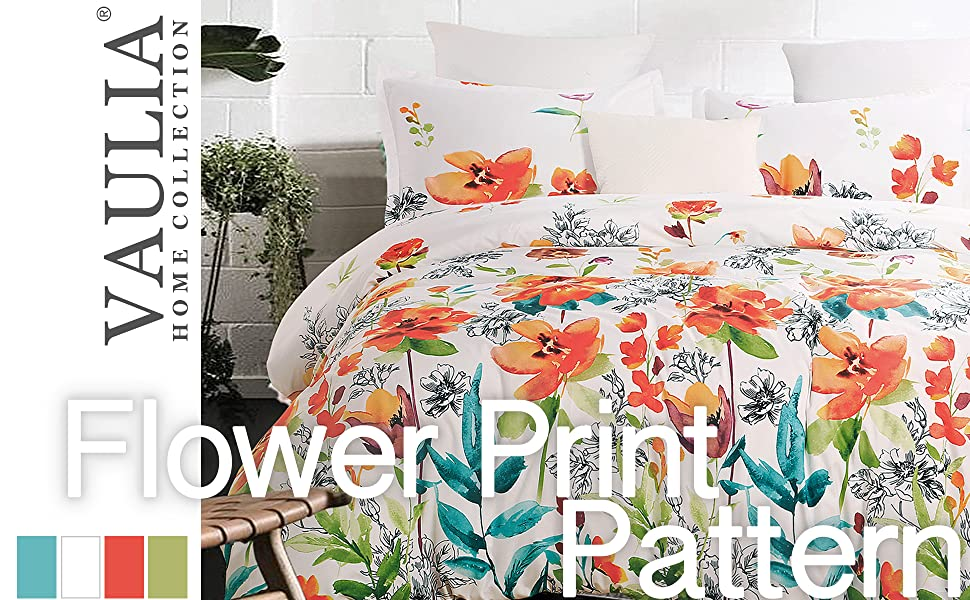 flower duvet cover 301A