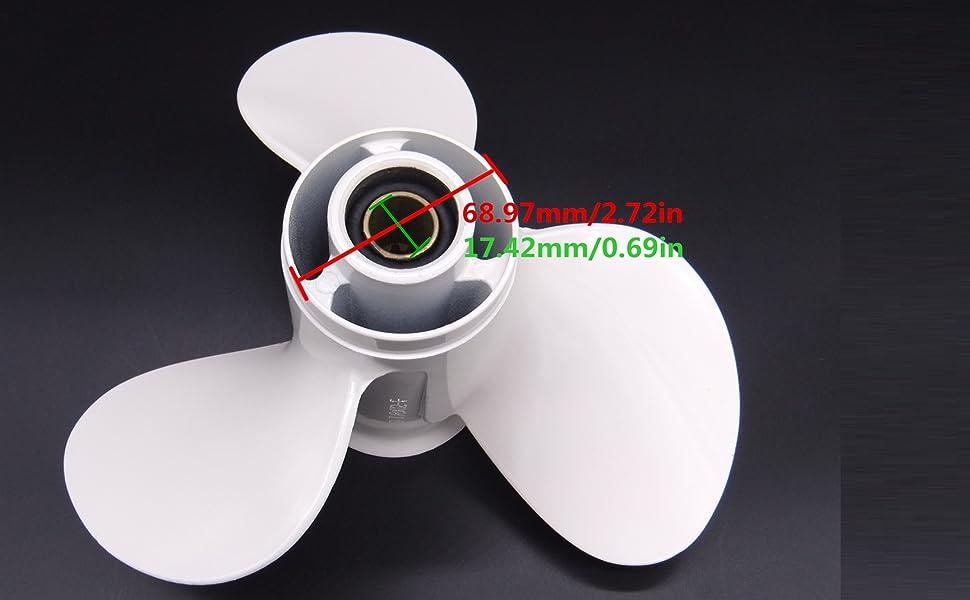 Boat Motor Propeller 664-45945-01-EL 664-45945-00-EL F25-04080000 for Yamaha Parsun Hidea Outboard C 20HP 30HP 25HP 3 x 9 7//8 x 10 1//2 Aluminium boat material 2//4 stroke Engine