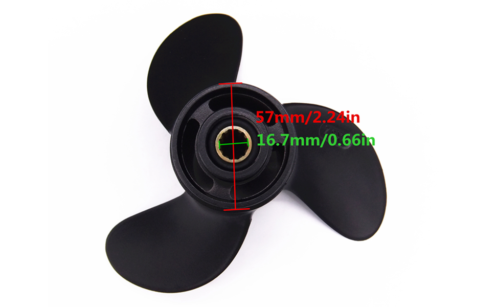 Fit For Tohatsu Nissan Mercury 4-6HP 3Blades Outboard Propeller 7.8*8 Replace