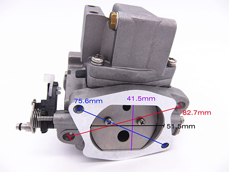 This is a brand new outboard carburetor assembly for Yamaha 40HP (New X Model: 2 Strokes) engines. Like E40XMH model.