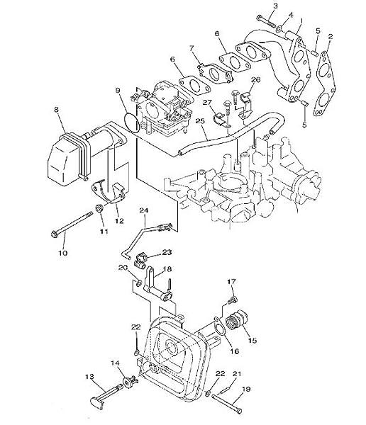 Amazon Com Boat Motor 66m 13646 00 Carburetor Gasket For Yamaha 4