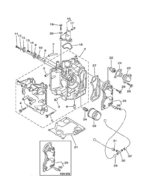 Diagram Of 1999 F50tlrx Yamaha Outboard Repair Kit 2 Diagram And