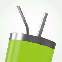 Beast 30oz green tumbler straws