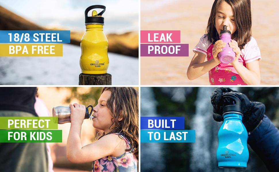 Kids bottles collage