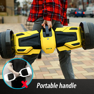 hoverboard with portable handle