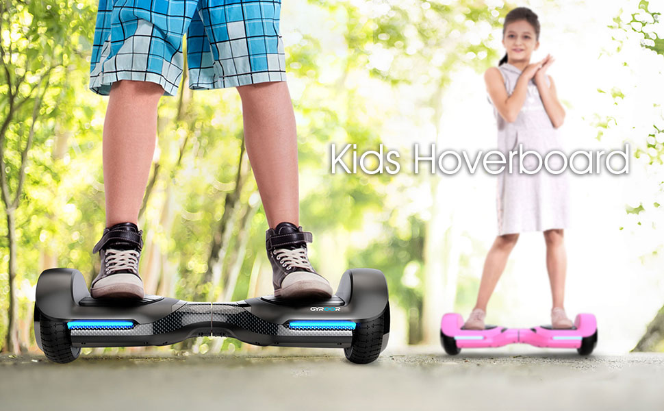 Gyroor Swift Hoverboard Self Balancing Hoverboard with Music Speaker LED Lights, 6.5 inch Two-Wheel Hoverboard for Kids Adult - UL2272 Certificated