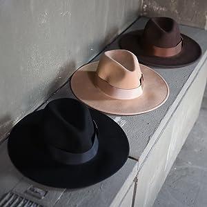 ByTheR Mens Premium Woolen Ovis Gentle Classic Limp Detachable Ribbon Fedora Hat