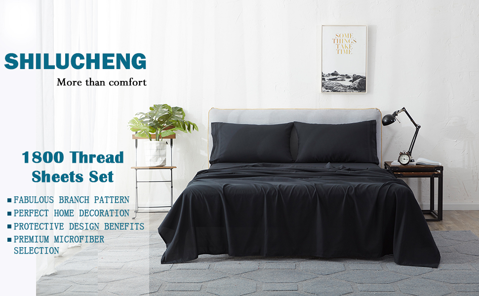 Queen size sheets 1800 Count 4 Piece Wrinkle Free Deep Pocket Bed Sheet Set 9H