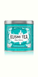 blue detox, kusmi tea, pineapple flavor