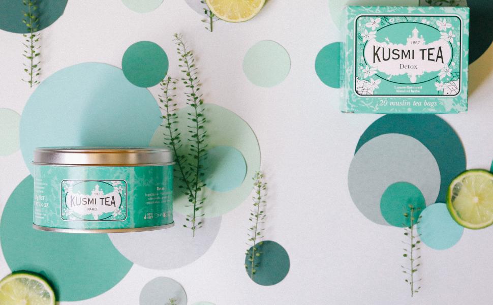 Kusmi tea, detox teas, wellness teas,