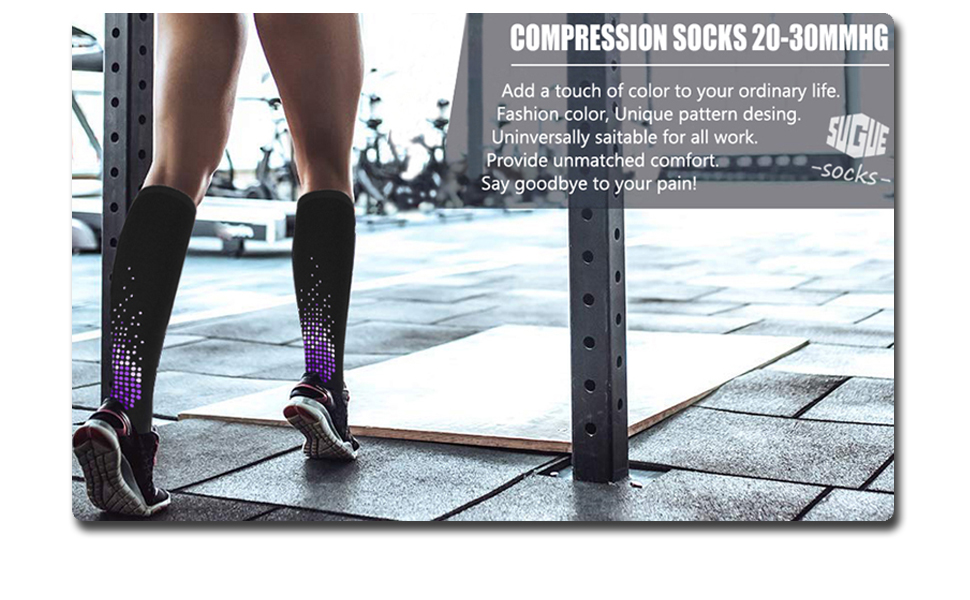 d4ee7612d95a5 Compression Socks Women 20-30mmhg Knee high or Men - Best Stockings for  Running, Medical, Athletic, Edema, Diabetic, Varicose Veins, Travel, ...