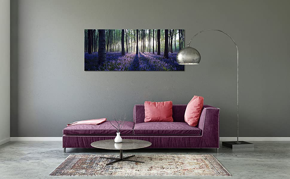 d7d3b03bccc3 Amazon.com: Visual Art Decor Framed Large Purple Canvas Wall Art ...
