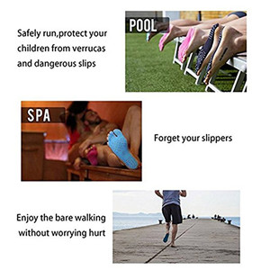 KENROLL Beach Pool Spa Barefoot Adhesive Foot Pad Outdoor Invisible Shoes