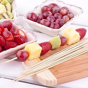 bamboo wooden skewer green fruit dessert kebab berries party wedding event catering ideas