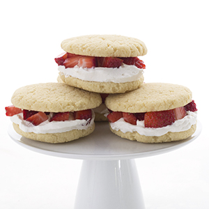 Strawberry Shortcake Whoopie Pies made with Swerve Sweetener