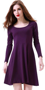 aphratti womens long sleeve casual peter pan collar fit