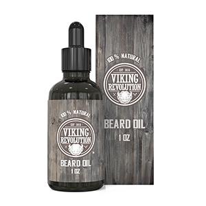 Viking Revolution Beard Oil Conditioner- All Natural Unscented Organic Argan & Jojoba Oils