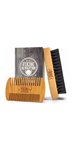 Beard Comb & Beard Brush Set for Men