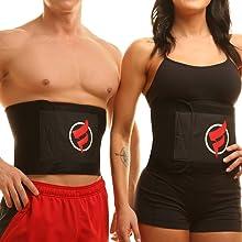 fitru weight loss belt waist trainer trimmer sauna sweat men women