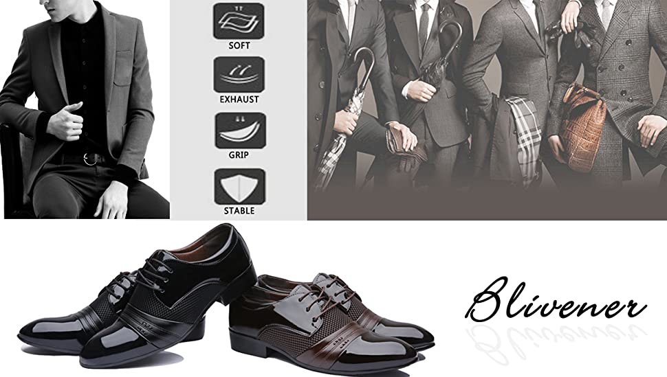 menu0027s pointed toe dress shoes casual oxford sizeus 65us 12 styleformal business