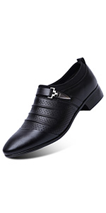 a22a45c12b335 Amazon.com   Blivener Men's Pointed Toe Pleather Dress Shoes Casual ...