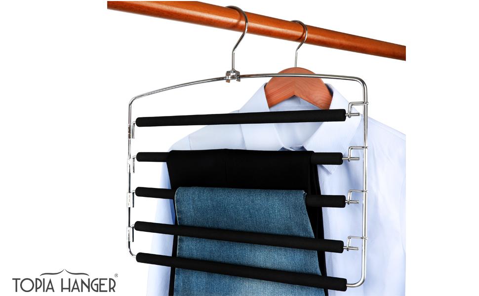Amazon.com: TOPIA - Colgadores para pantalones, 2 unidades ...