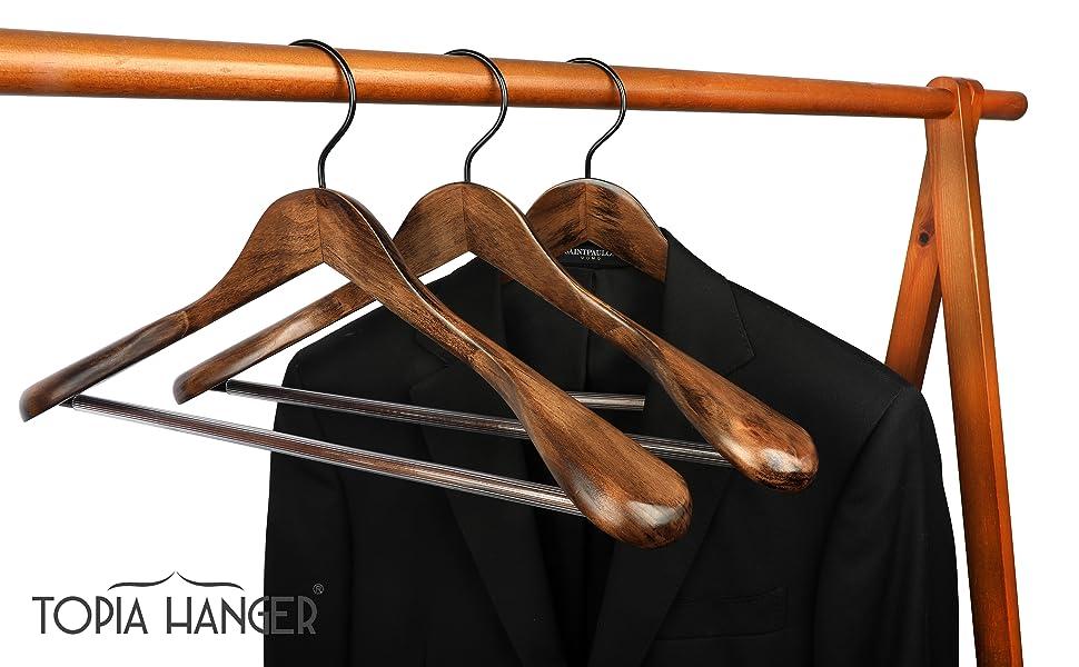 wooden suit coat hangers