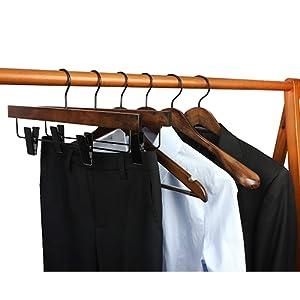 wood suit coat hangers