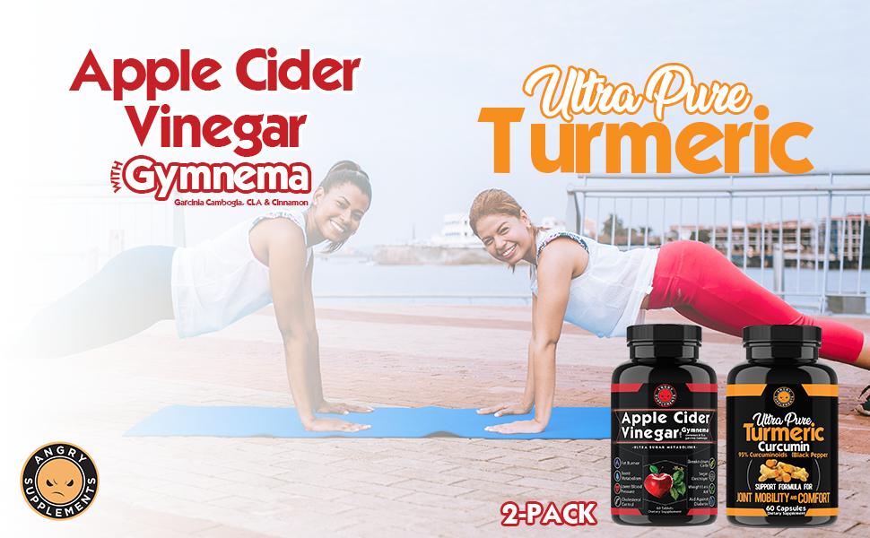 apple cider vinegar with gymnema ultra pure turmeric combo