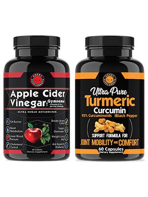 apple cider vinegar with gymnema turmeric curcumin