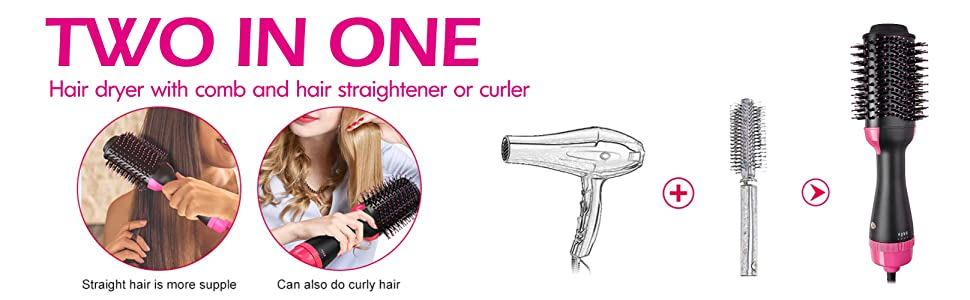 hot hair air dryer brush