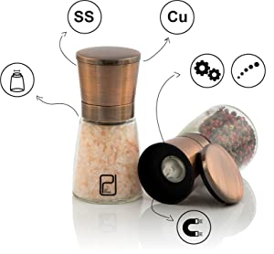 Unique Features Make This Salt And Pepper Grinder Set A Great Addition In  Any Kitchen Or Dining Table