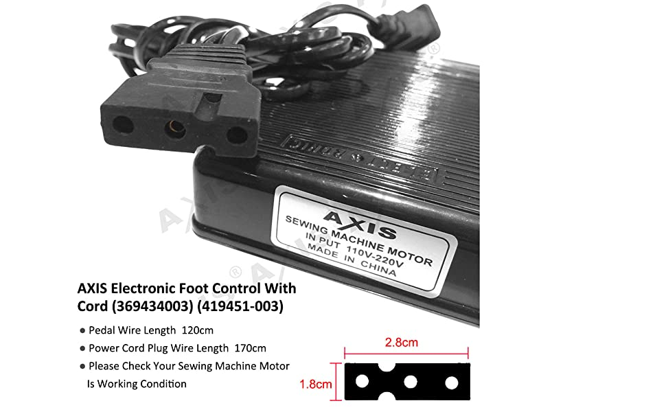 Electronic Foot Control With Cord  369434003   419451