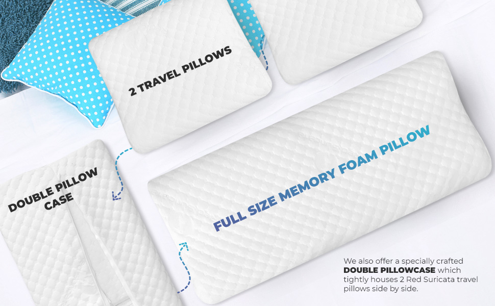 2 travel pillows make one full size pillow