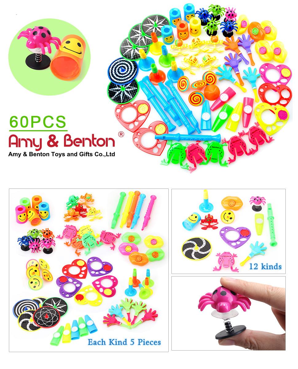 Carnival Toy Box Pink: Amazon.com: Amy&Benton 60PCS Pinata Filler Toy Assortment